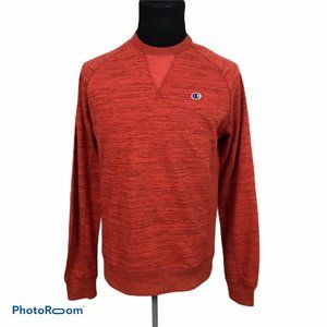 Champion Mens Red Heather Crew Neck Sweater Small